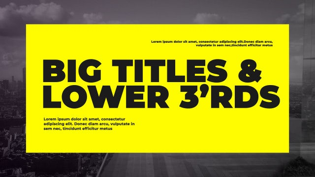 Corporate Big Titles II: After Effects Templates