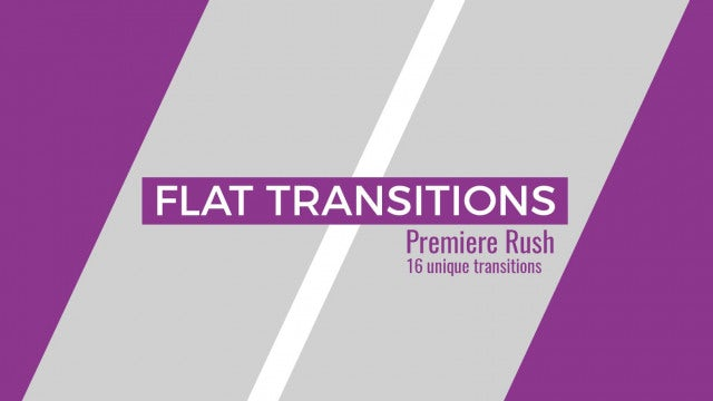 Flat Transitions: Premiere Rush Templates
