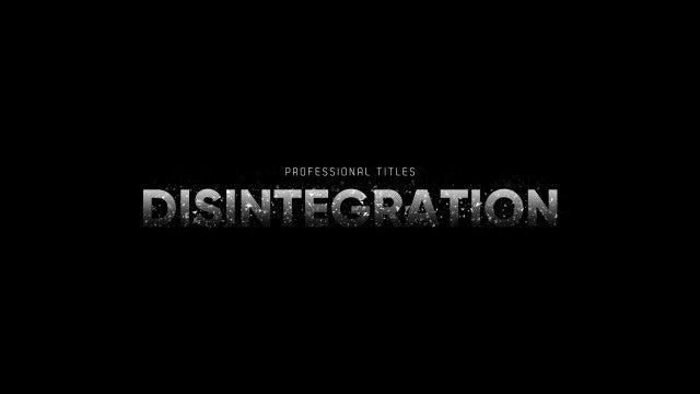 Titles Animator - Disintegration Reveal: Premiere Pro Templates