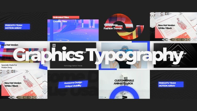 Graphics Typography: After Effects Templates