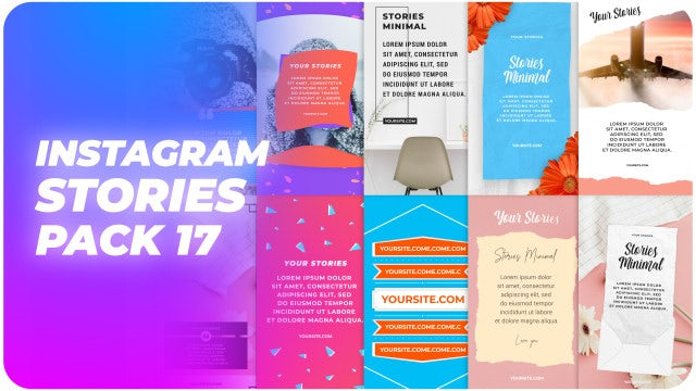 Instagram Stories Pack 17: Motion Graphics Templates