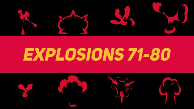 Liquid Elements Explosions 71-80: Motion Graphics Templates