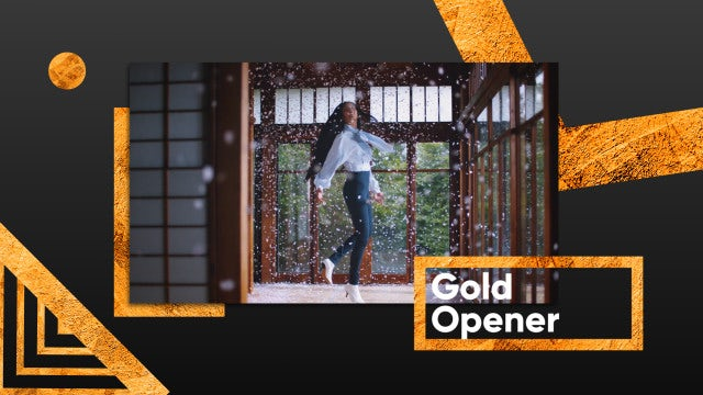Gold Opener: After Effects Templates