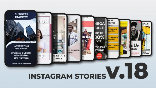 Instagram Stories V.18: After Effects Templates