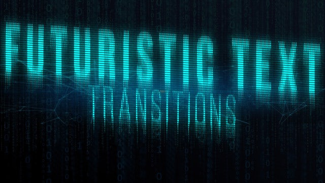 Futuristic Text Transitions: After Effects Presets