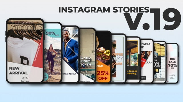 Instagram Stories V.19: After Effects Templates