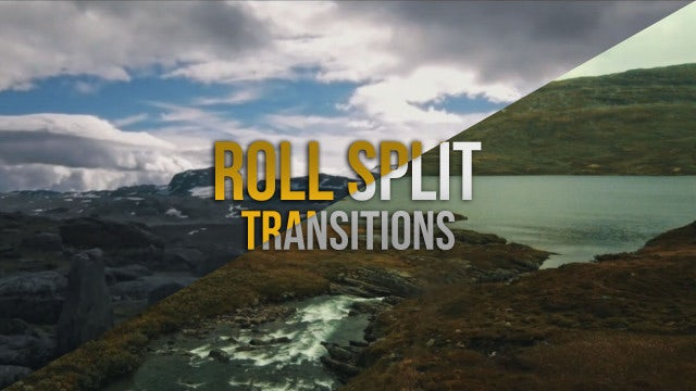 Roll Split Transitions: Premiere Pro Presets