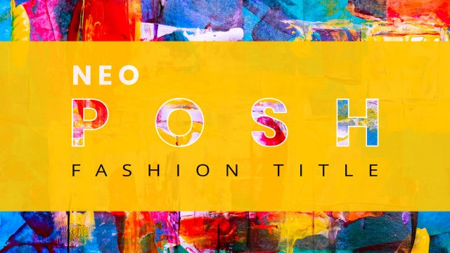 Neo Posh Fashion Title: After Effects Templates