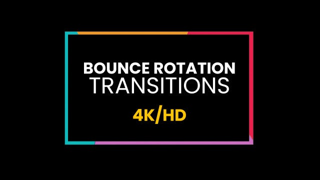 Bounce Rotation Transitions: Premiere Pro Presets