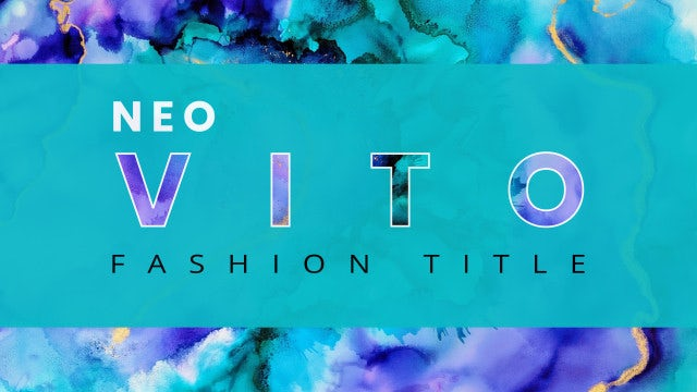 Neo Vito Fashion Title: After Effects Templates