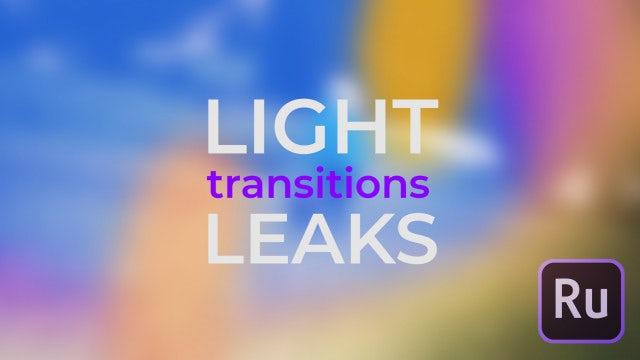 Light Leaks Transitions: Premiere Rush Templates