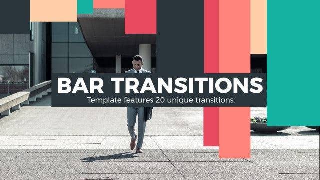 Bar Transitions: Premiere Rush Templates