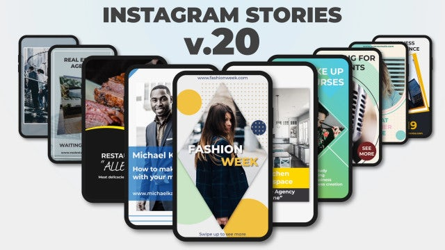 Instagram Stories V.20: After Effects Templates