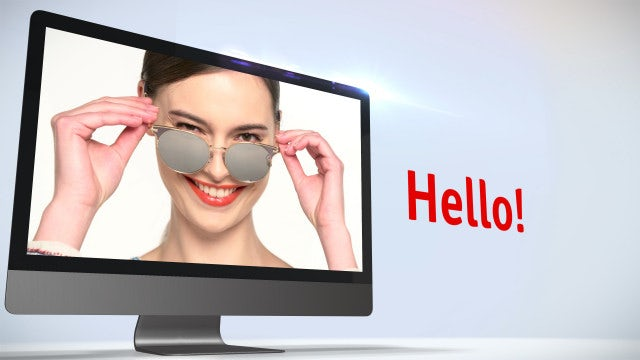 4K Showcase On Monitor Screen: After Effects Templates