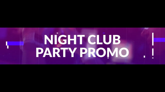 Night Club Party Promo: After Effects Templates