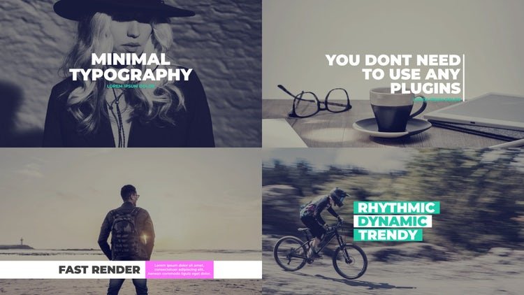 Minimal & Elegant Typography: After Effects Templates