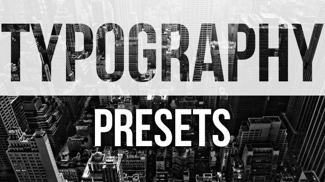Typography Presets: Premiere Pro Presets
