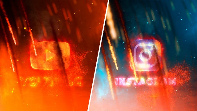 Create Logo Fire: After Effects Templates