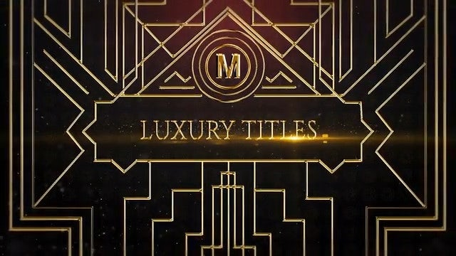 Luxury Titles: After Effects Templates