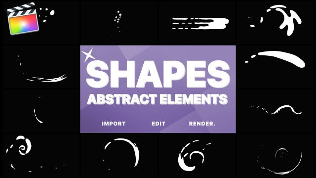 Funny Abstract Shapes: Final Cut Pro Templates