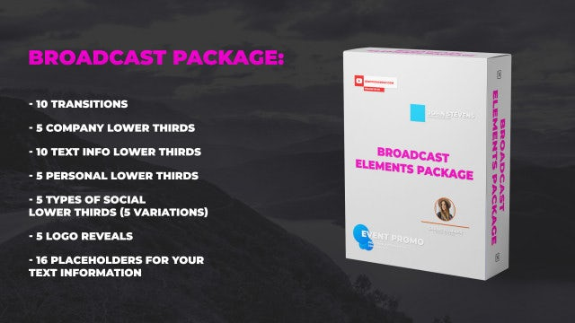 Broadcast Elements: After Effects Templates