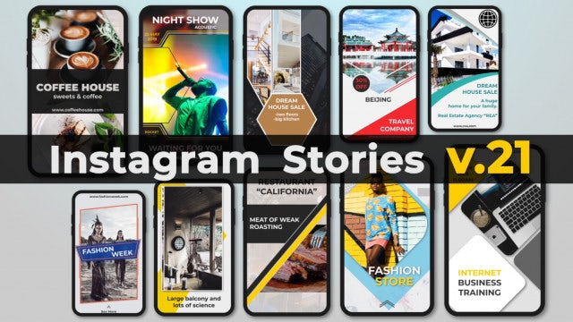 Instagram Stories V.21: After Effects Templates