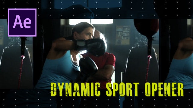 Dynamic Sport Opener: After Effects Templates