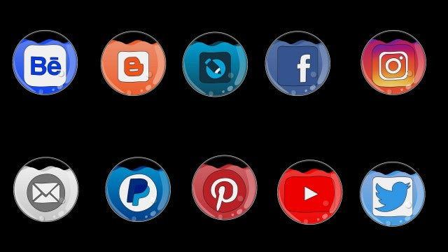 Social Network Icons Pack: Stock Motion Graphics