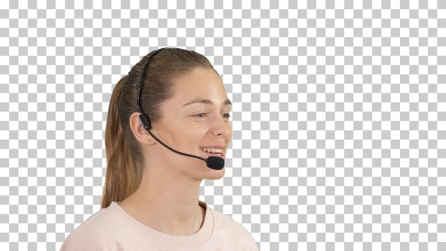 Call Center Operator With Headset: Stock Video