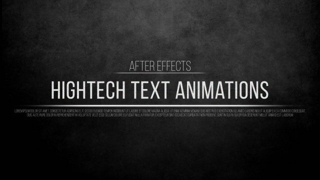 Hightech Text Animations: After Effects Presets