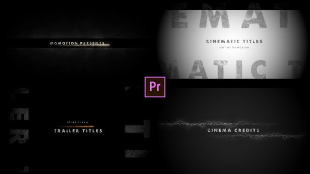 Cinematic Titles: Motion Graphics Templates