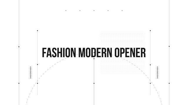 Fashion Modern Opener: After Effects Templates