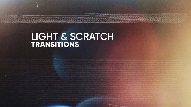 Light & Scratch Transitions: Premiere Rush Templates
