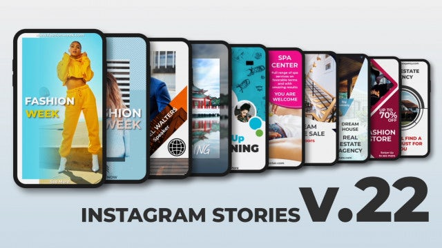 Instagram Stories V.22: After Effects Templates