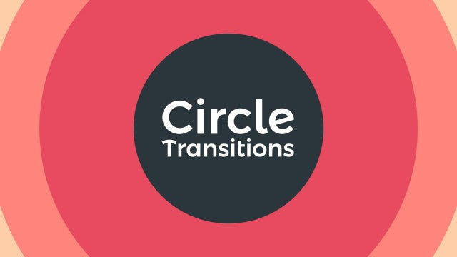 Circle Transitions: Premiere Rush Templates