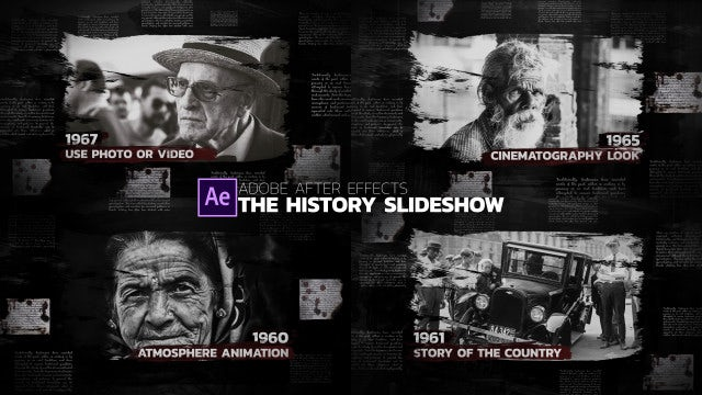The History Slideshow - After Effects Templates | Motion Array