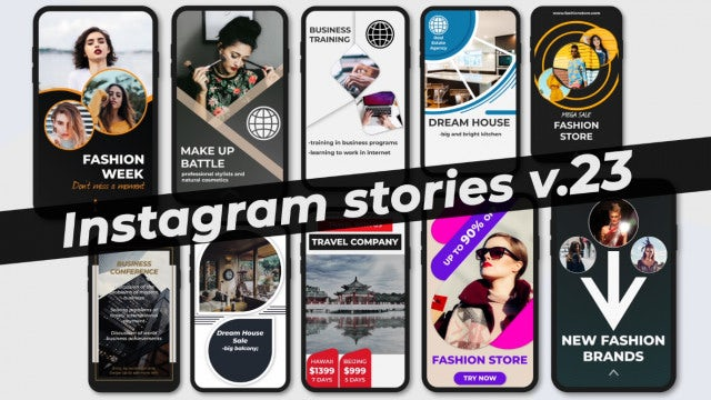 Instagram Stories V.23: After Effects Templates
