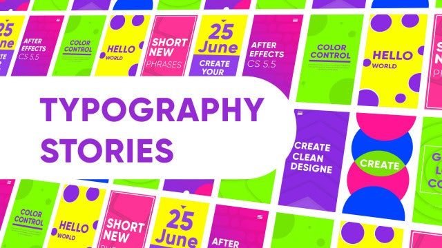 Instagram Stories Typography: After Effects Templates
