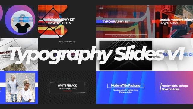 Typography Slides V1: After Effects Templates