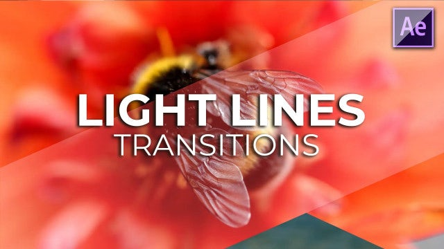 Light Lines Transitions: After Effects Presets