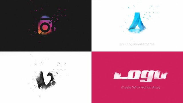 Falling Drop Logo Reveal: After Effects Templates
