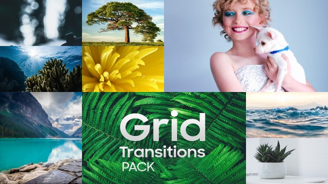 Grid Transitions Pack: After Effects Templates