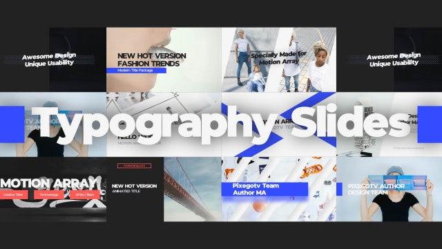Typography Slides: Premiere Pro Templates