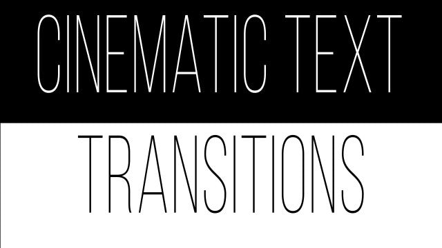 Cinematic Text Transitions: After Effects Presets
