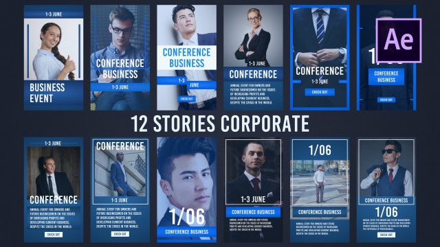 12 Stories Corporate: After Effects Templates