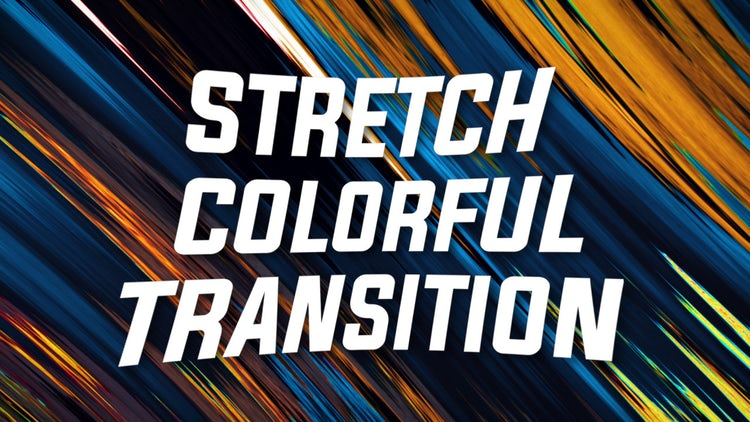 Stretch Colorful Transition: Premiere Pro Presets
