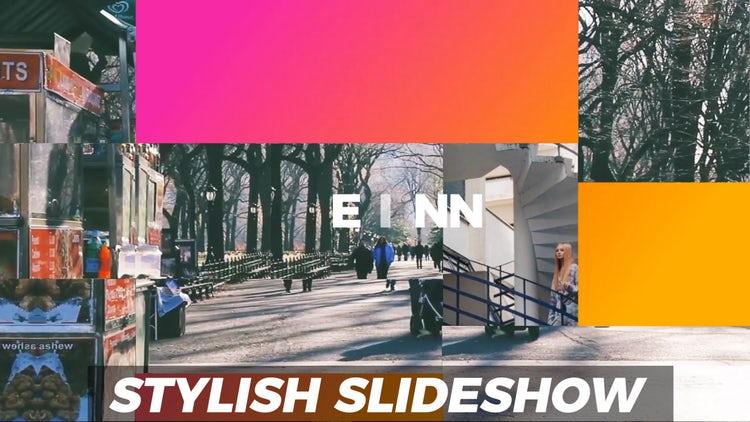 Stylish Modern Slideshow: Premiere Pro Templates