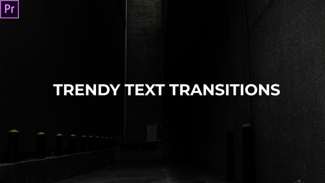 Trendy Text Transitions: Premiere Pro Presets