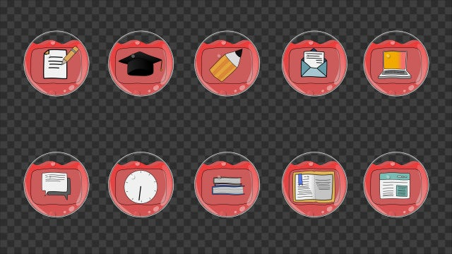 Education Icons Pack: Stock Motion Graphics