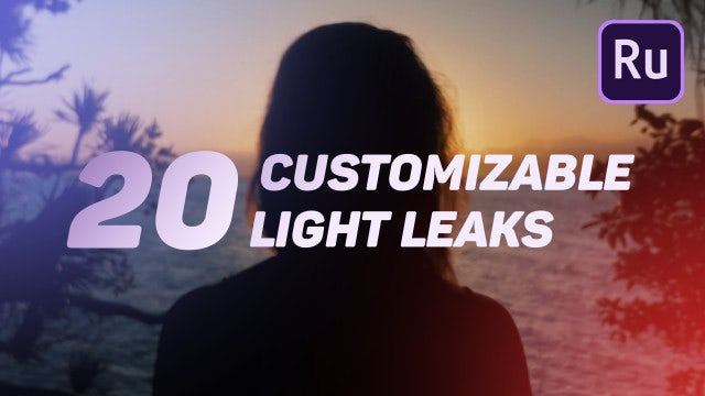 Light Leaks: Premiere Rush Templates